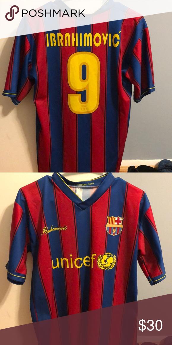 pick up 73627 2961e Zlatan Ibrahimovic Barcelona Jersey Small Zlatan Ibrahimovic ...