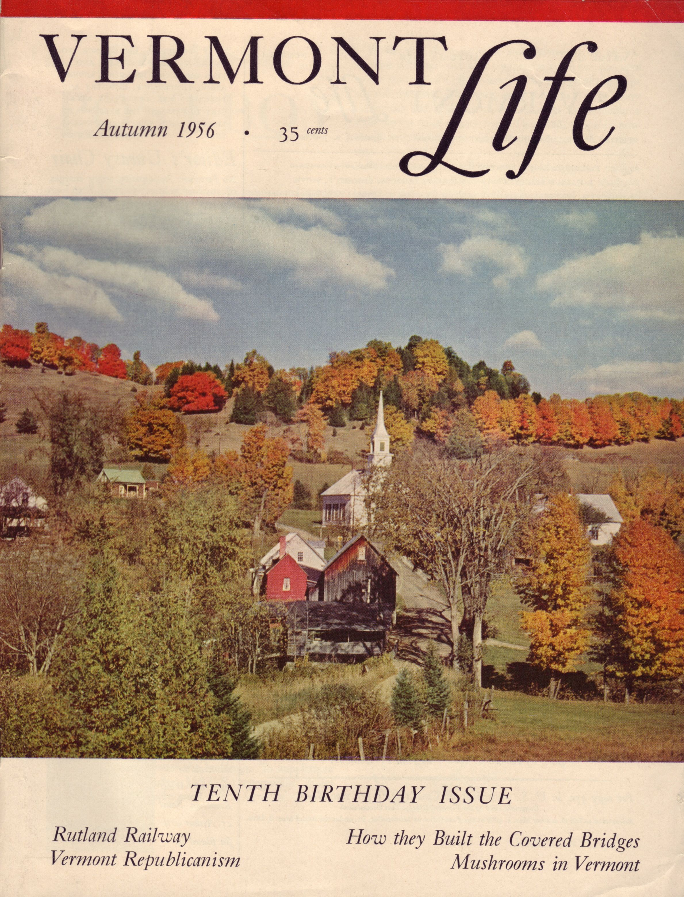 Autumn 1956 Vermont Life Cover