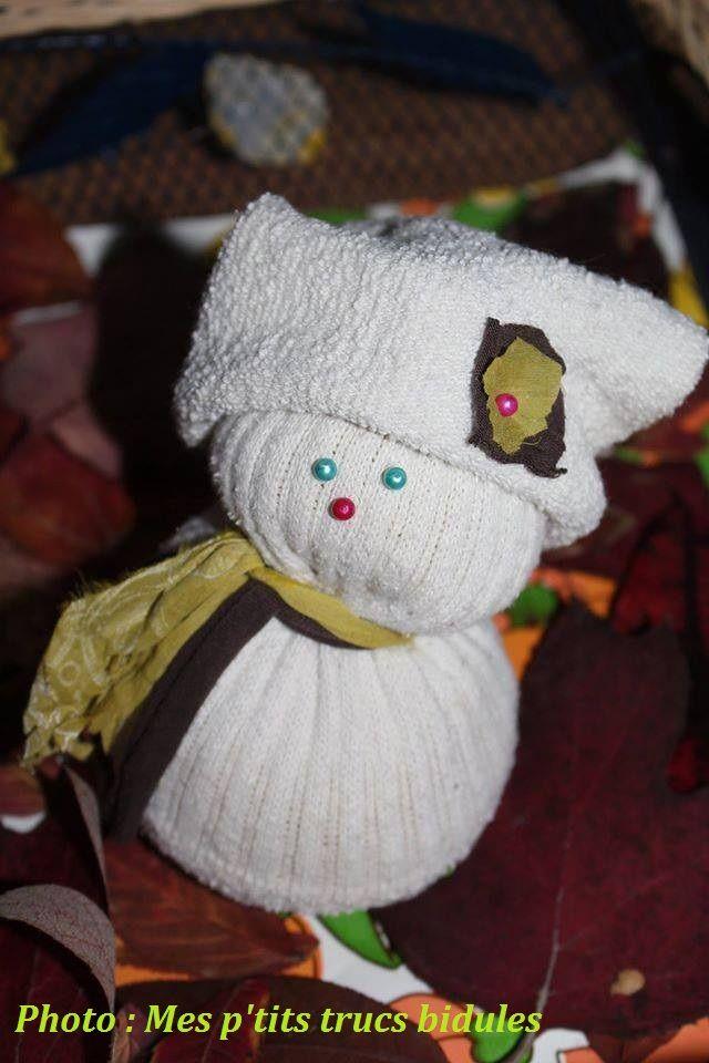 Mon p'tit bonhomme de neige chaussette de Noël dernier