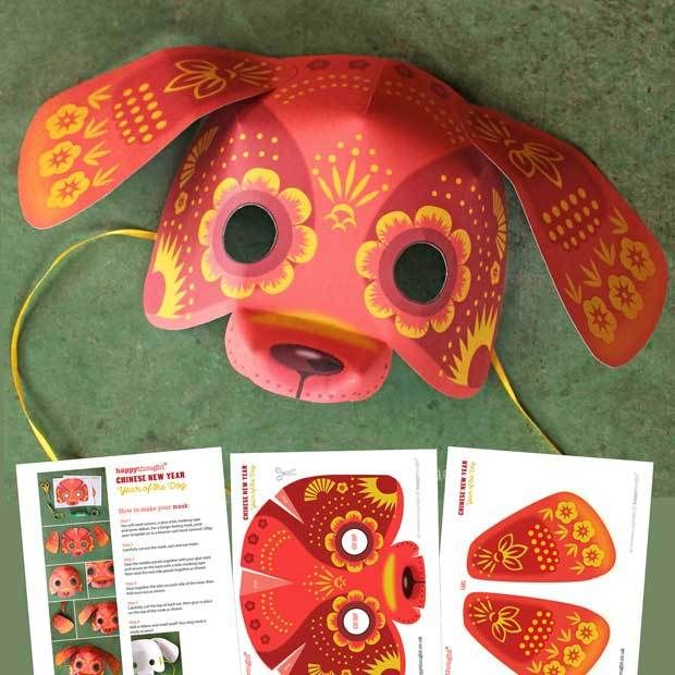 Year of the Dog mask: Printouts + crafts to celebrate Chinese New ...