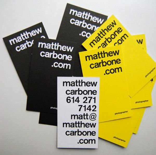 yellow identity cards  business card design unique