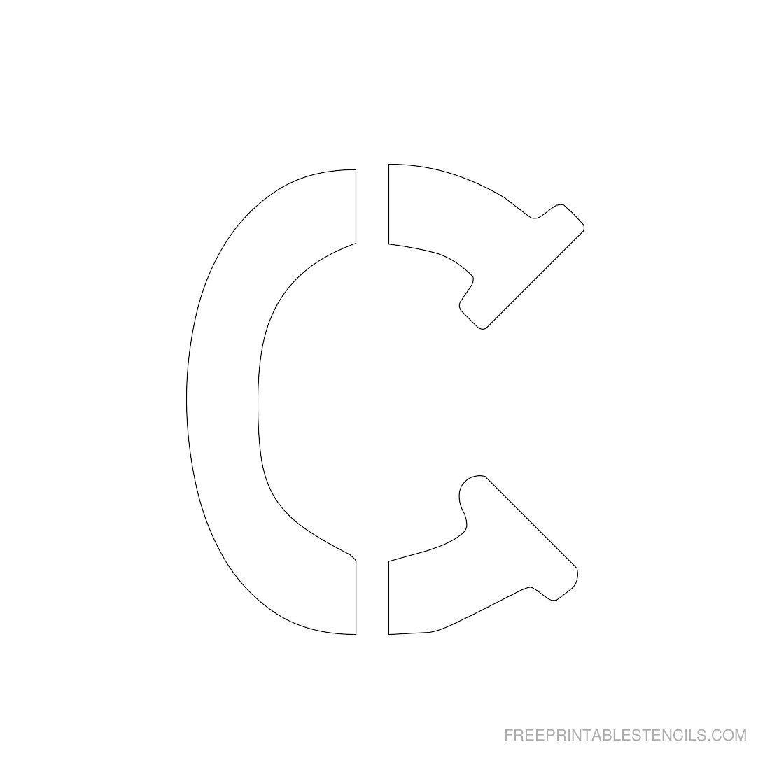 Printable 3 Inch Letter Stencil C Crafts Pinterest Letter