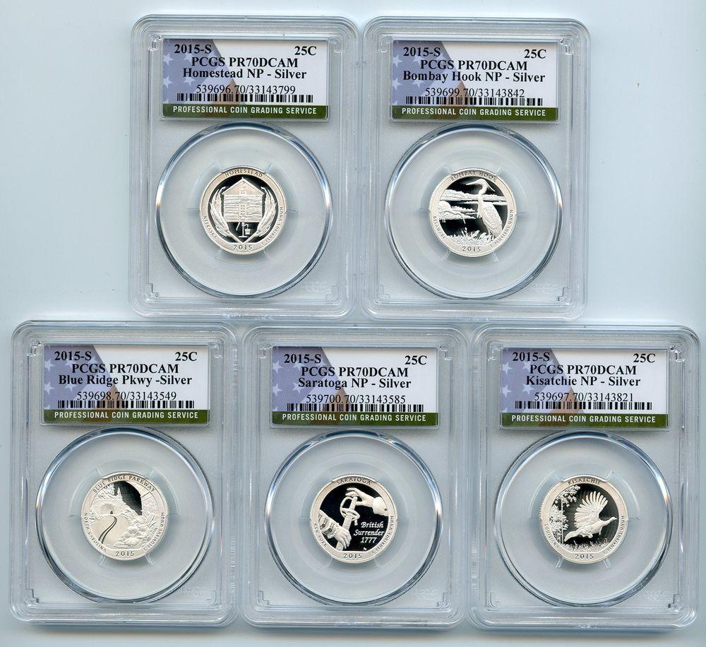 2015 America The Beautiful Silver Quarter Proof Set Coin Set Rare Coins Silver Quarters