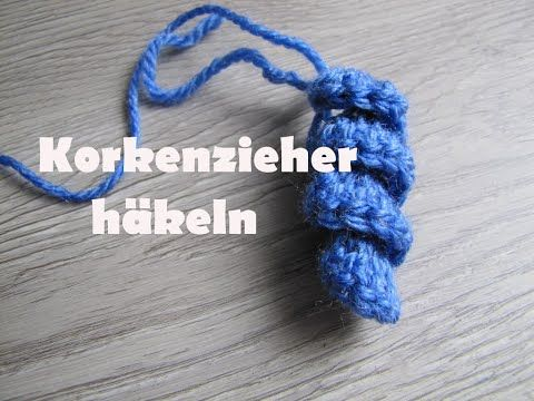 Spiralen, Korkenzieher, Locken häkeln - YouTube | Häkeln | Pinterest ...