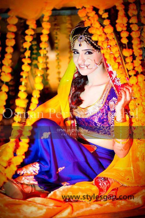 Mayun Bridals Makeup Looks Dresses Designs 2020-2021 Trends   Pakistani wedding dresses, Bridal ...