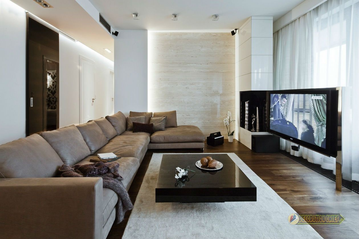 Modern minimalist apartment living room design ideas 2017 for Modern minimalist living room