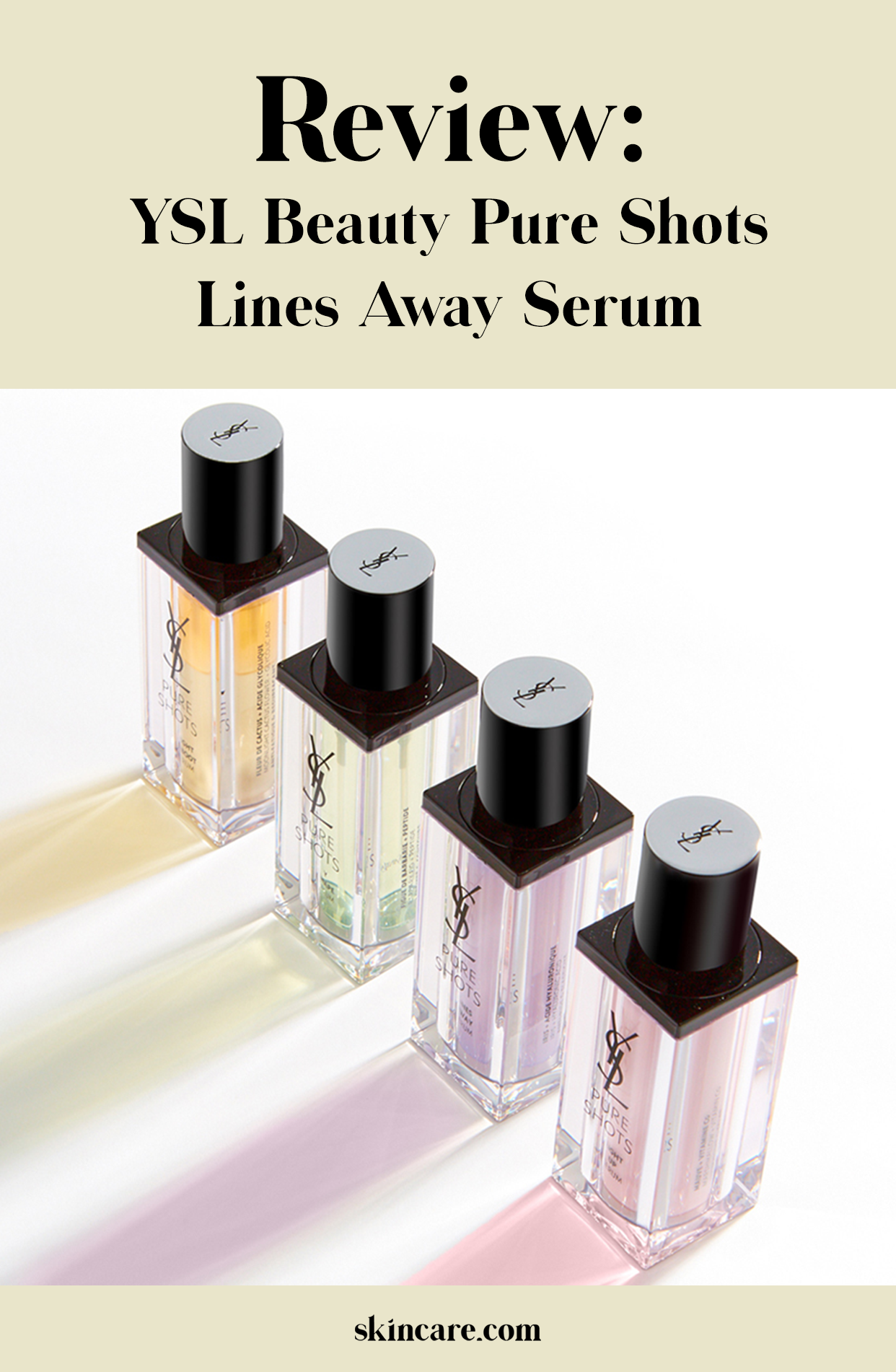 YSL Beauty Pure Shots Lines Away Serum Review Skincare