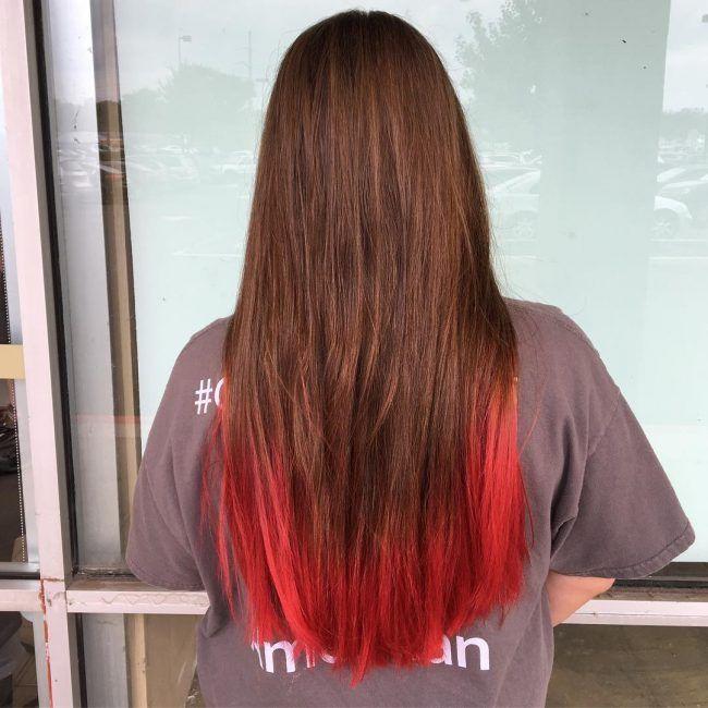 Helle Rote Haar Ideen Fur 2018 Balayagebraun Leuchtendrote Hellehaut Cabello Ombre Rotehaarfarbe Langehaare Bright Red Hair Red Dip Dye Hair Dipped Hair