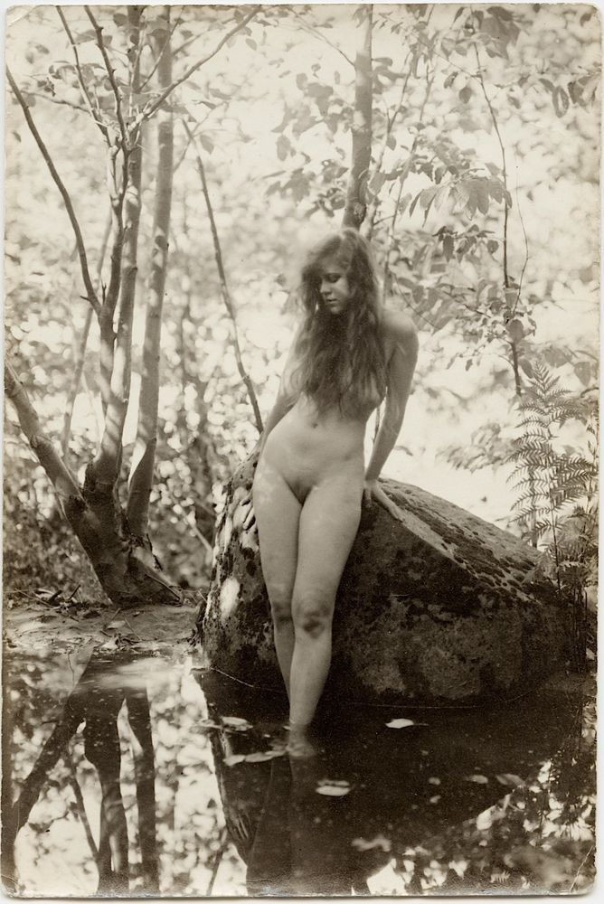 Vintage young nude valuable message