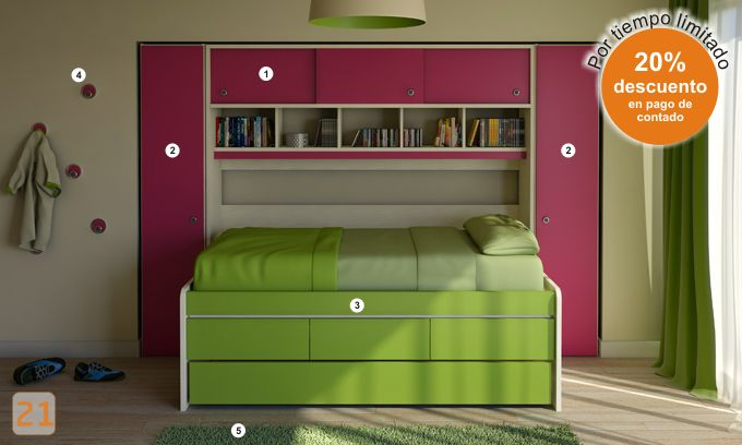 Camas cama ni os ni as dormitorio habitacion - Habitaciones infantiles marineras ...