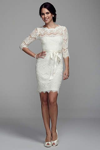 Little White Dresses In Various Styles Lengths David S Bridal Long Sleeve Lace Short Dress Short Lace Dress Lace Dress With Sleeves