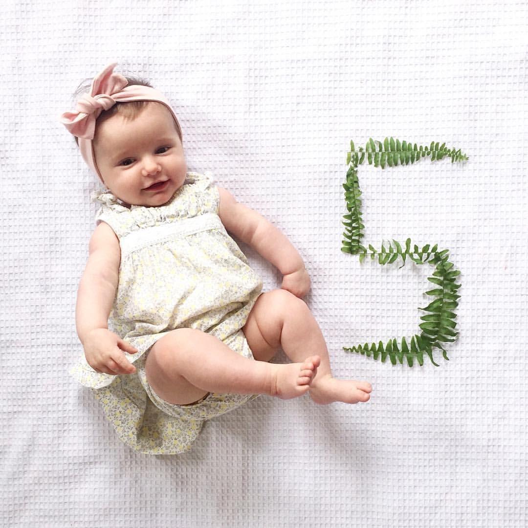 5 Months Old // Baby Milestone Photos (@taylorbroomhall