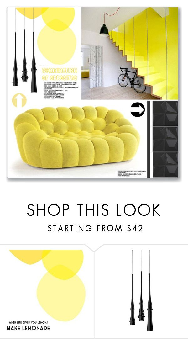 """""""COMBINATION OF OPPOSITES 36"""" by mariarty ❤ liked on Polyvore featuring interior, interiors, interior design, home, home decor, interior decorating, Roche Bobois and Bover"""
