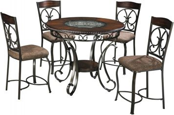 Ashley Glambrey Round DRM Counter Table And Chairs