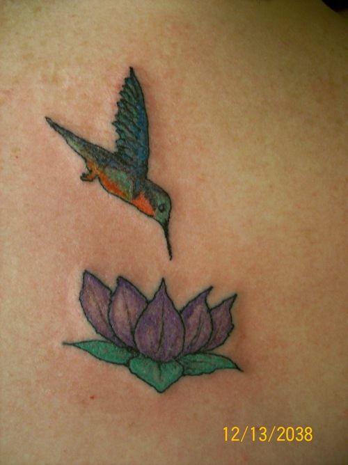 Hummingbird And Lotus Flower Tattoo Art Hummingbird Tattoo