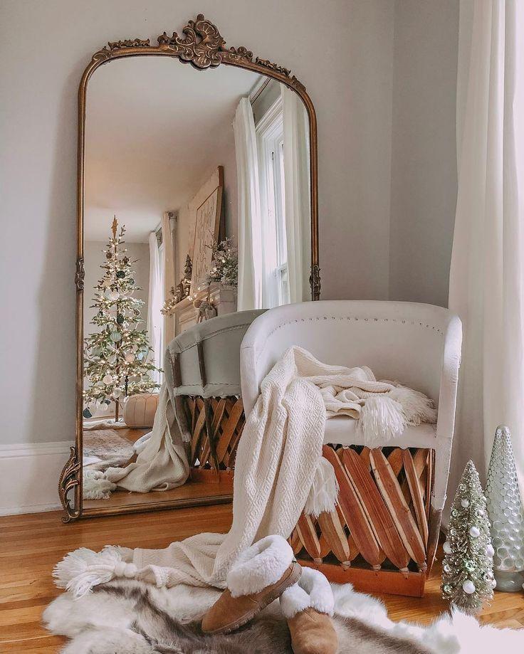 Cozy Homeoffice Decor: Amelie Wooden Arched Floor Mirror Arhaus