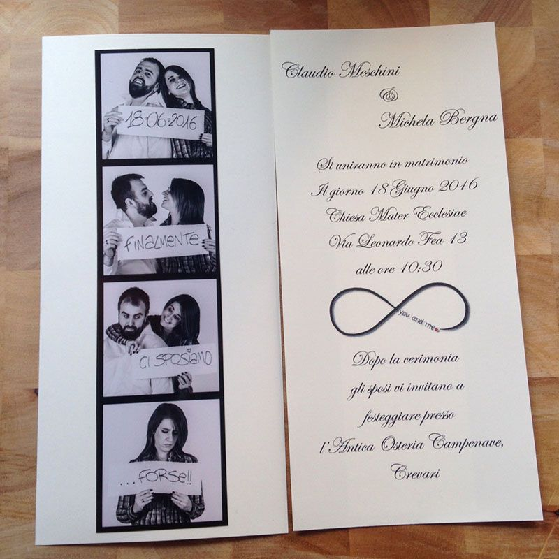 Partecipazioni Matrimonio Fotografiche.Partecipazioni Fotografiche Matrimoni A Tema Musica Inviti Per