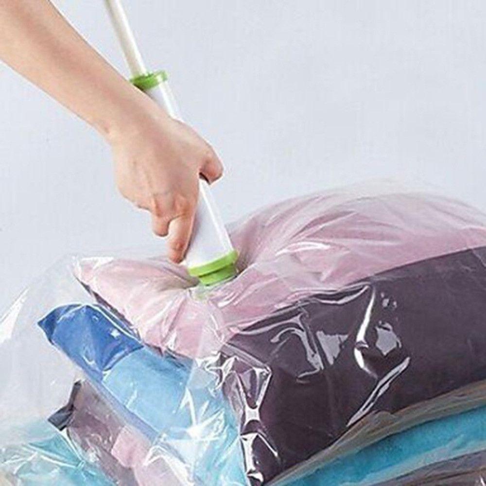 Hot Vacuum Storage Bag Suction Compression Clear Clothes Quilt Dustproof