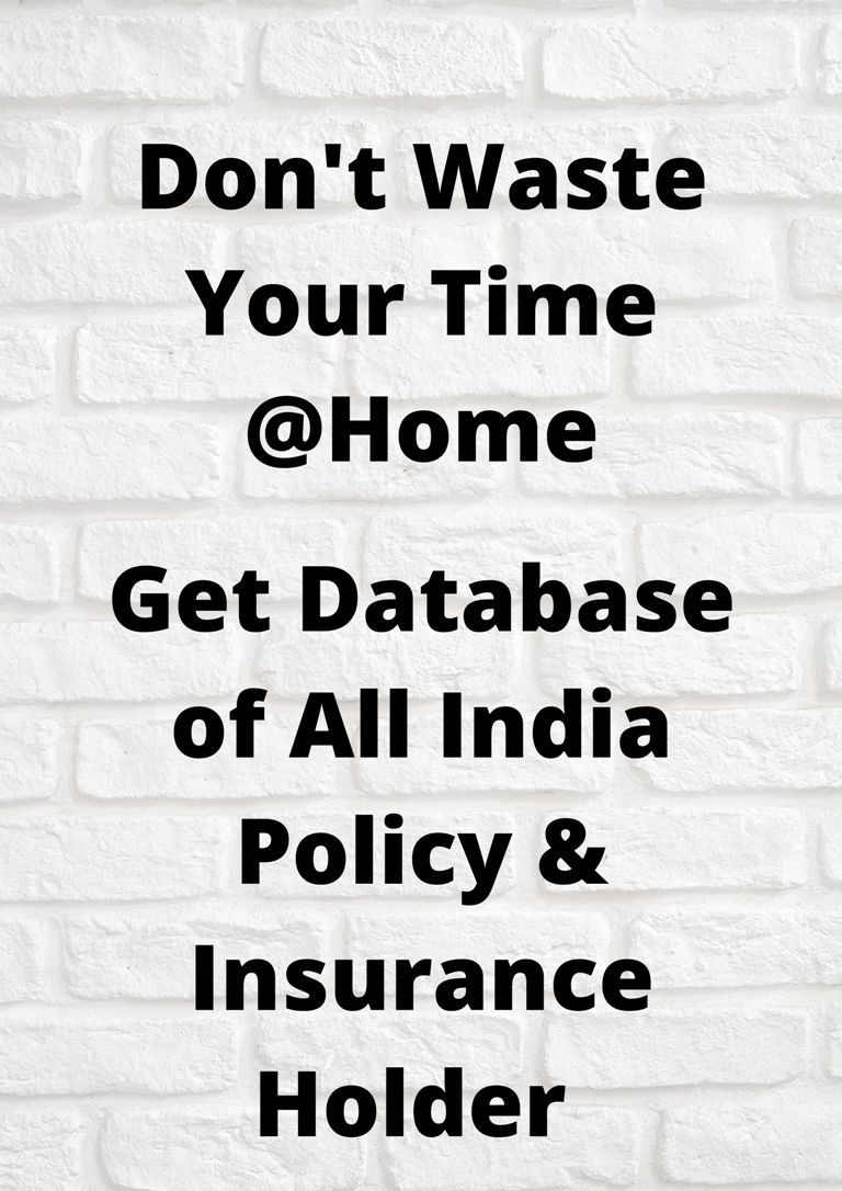 Get Database Of All Types Of Insurance And Policy Customers In