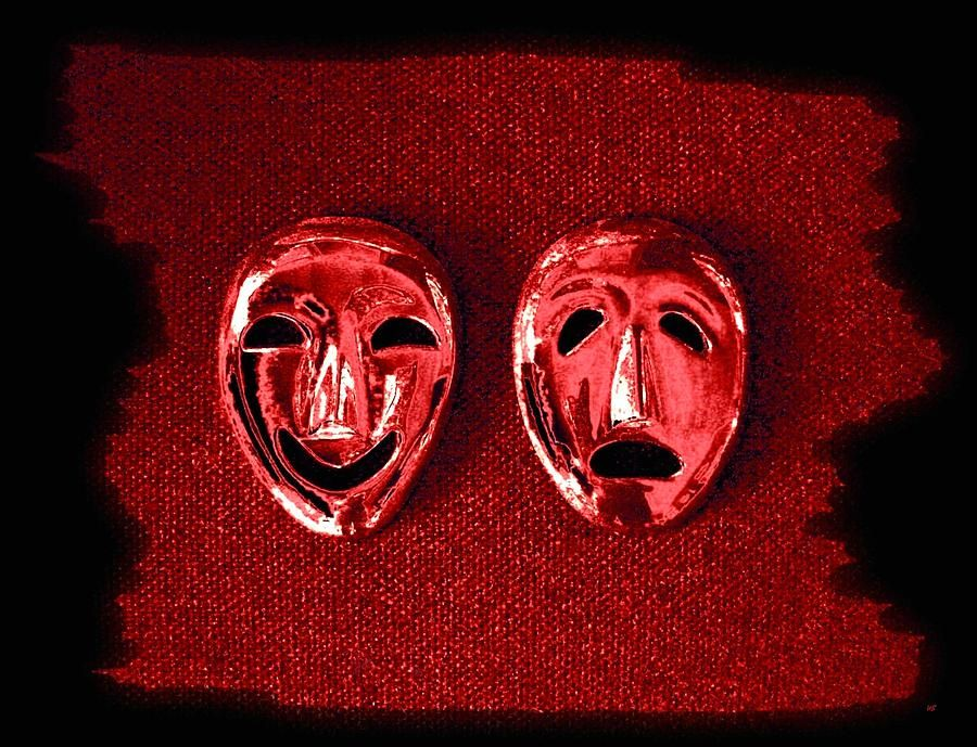 Digital Art - Comedy And Tragedy Masks 4 by Will Borden #affiliate , #Aff, #Affiliate, #Comedy, #Borden, #Masks, #Art