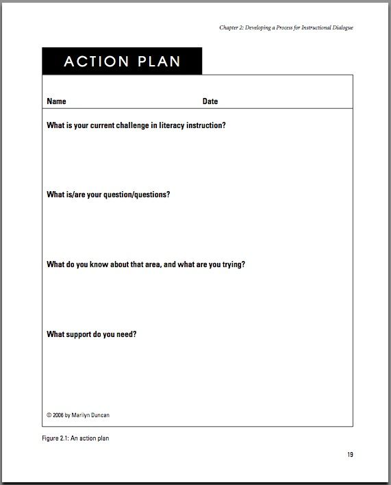 Sample Career Action Plan Personal Development Plan Templates