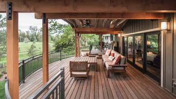 Second Story Deck Offers Plenty Of Space For An Outdoor Living Room Deck Railing Design Railing Design Deck Railings