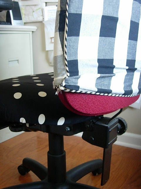 Diy Office Chair Makeover With Fabric With Images Chair