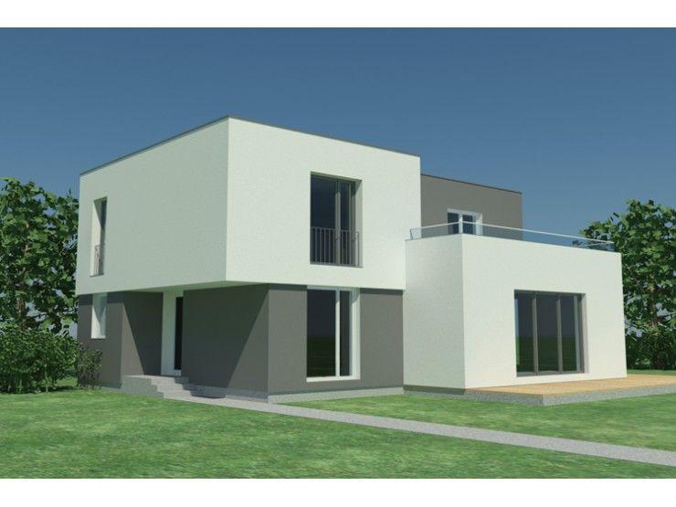 Fertighaus modern flachdach  PROMA V - #Einfamilienhaus von STIMMO Hausbau GmbH | HausXXL ...