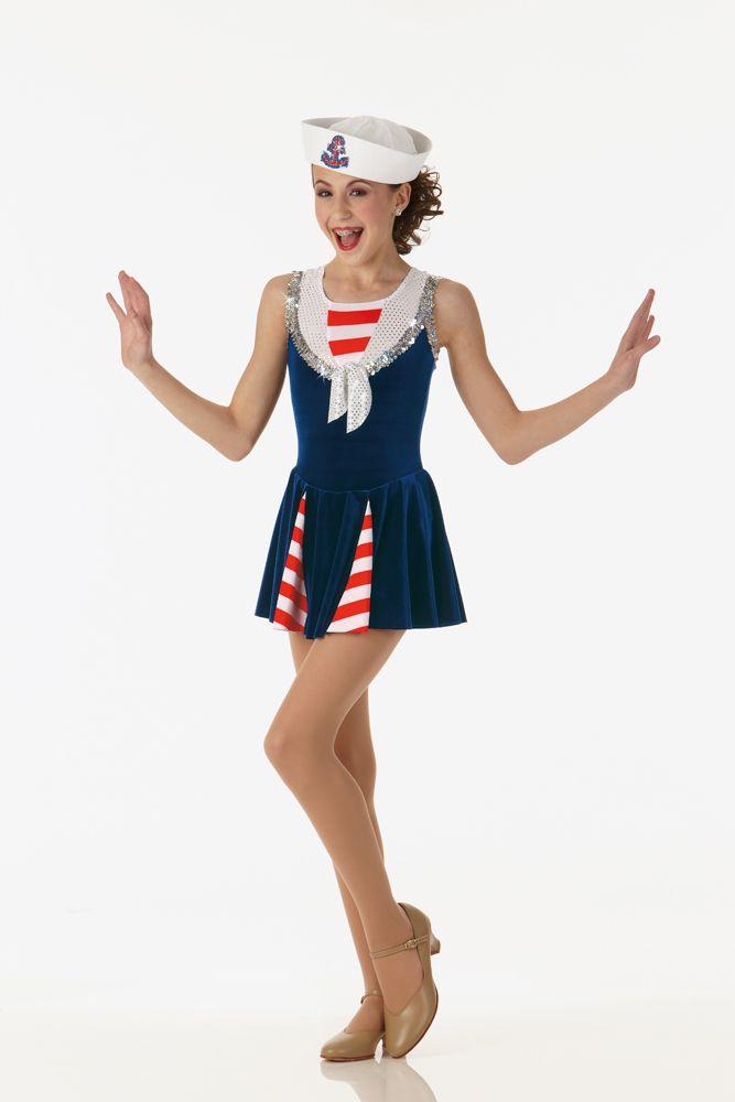 Sea Cruise Sailor Dress Hat Ice Skating Dance Costume Size Choice | eBay $36 adult small