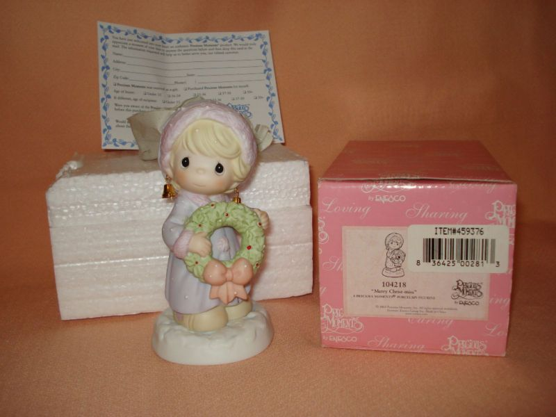 NEW 2002 Enesco Precious Moments Merry Christ-Miss Holiday + EUC Price Guide