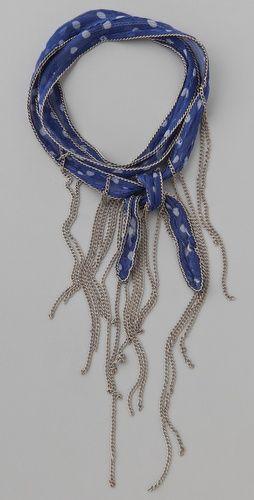 Chan Luu Beaded Chiffon Wrap Bracelet / Necklace, $44.00 | www.findbuy.co #ChanLuu