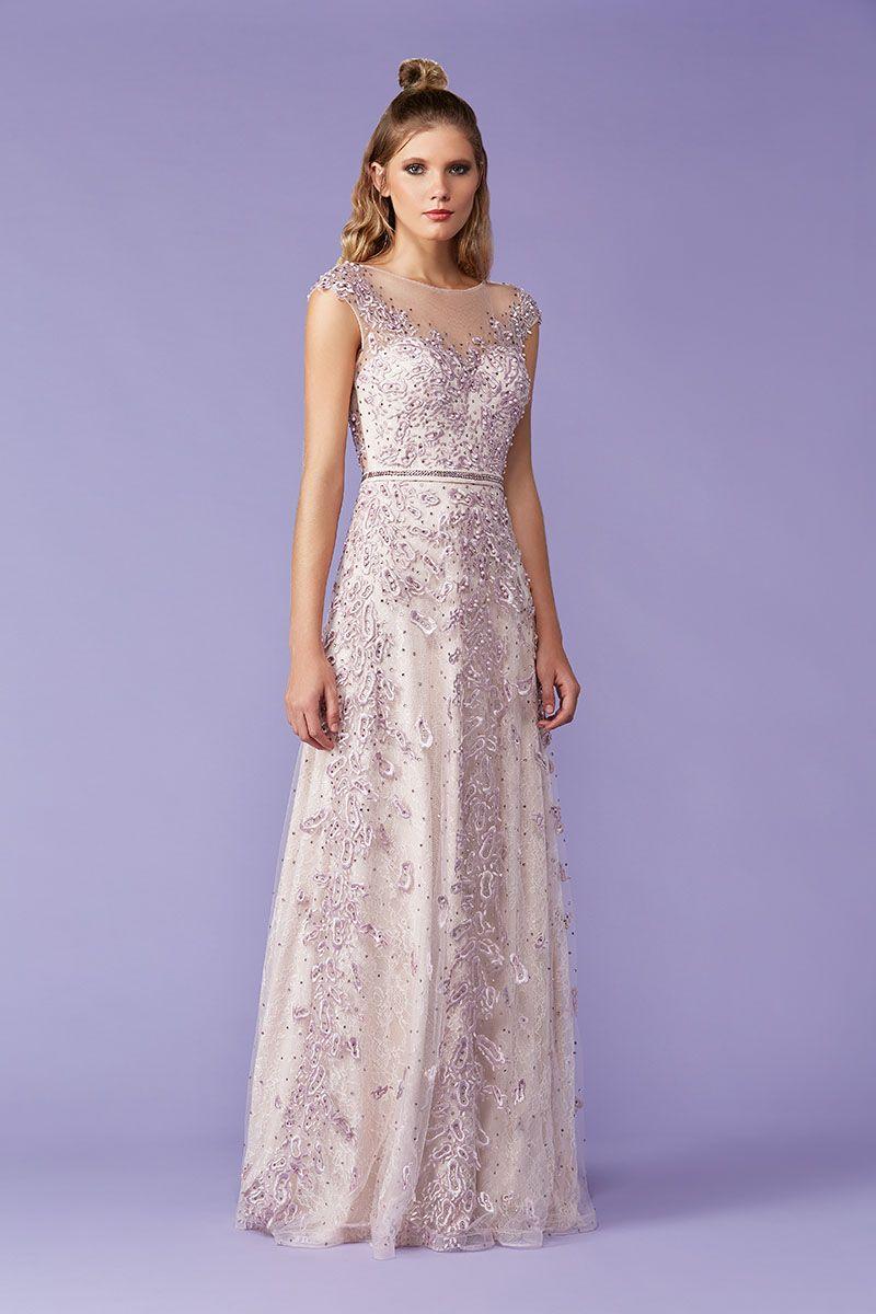 97a4cb1c3 Tule Bordado: o queridinho das madrinhas | Couture | Vestido de festa,  Vestido de festa longo e Tule bordado