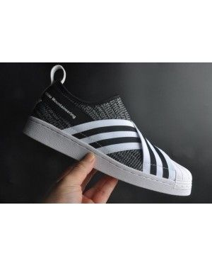 Adidas Black Mountaineering Primeknit Superstar Slip On
