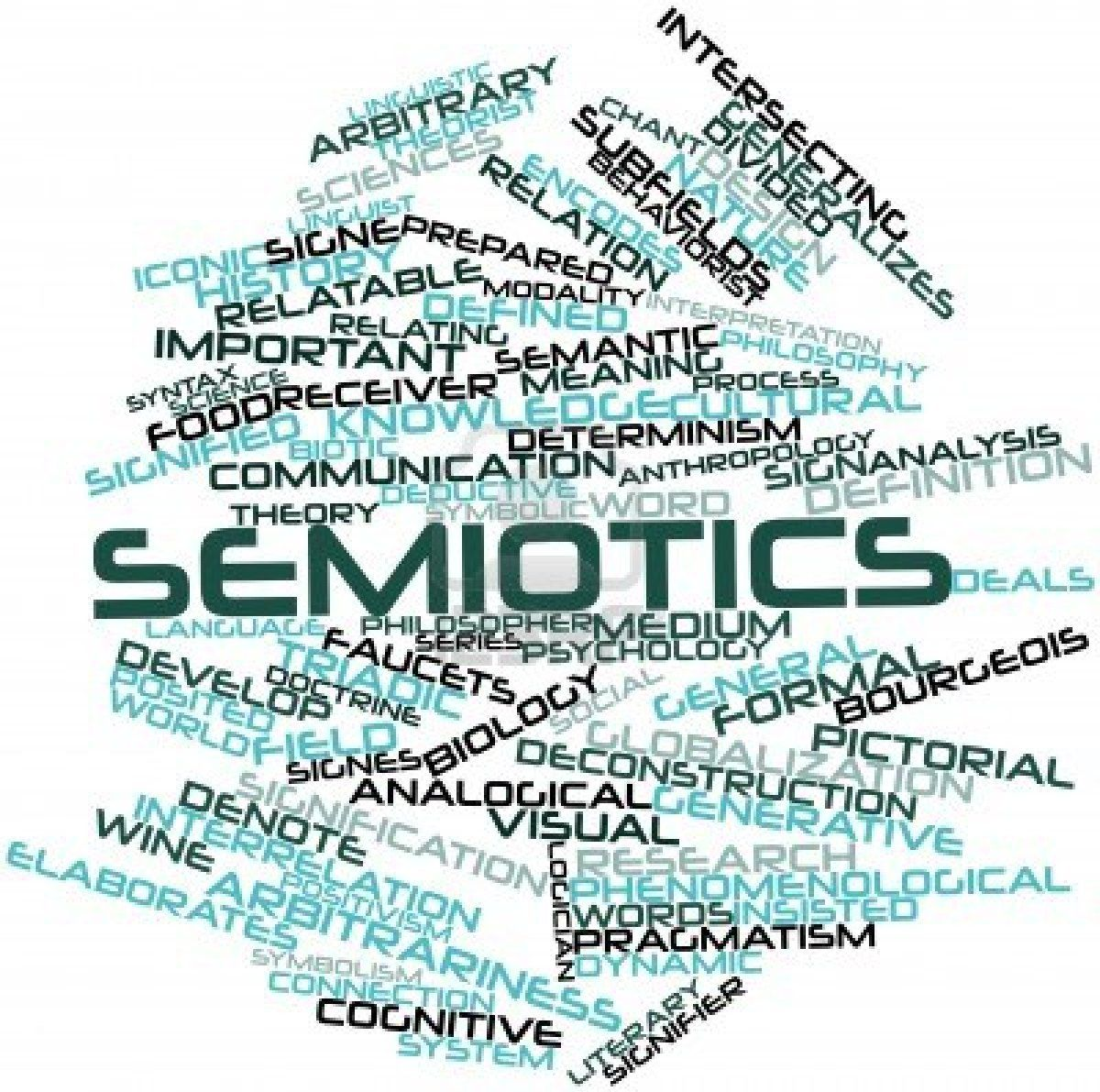 semiotics by holly and ban team e logos other and signs abstract word cloud for semiotics related tags and terms