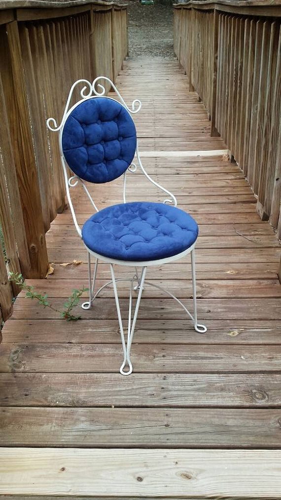 Reupholstered Vintage Vanity Chair Vanity Stool, Accent Chair ...