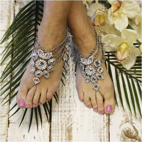 GYPSY SOLE barefoot sandals antique silver Boho style Barefoot