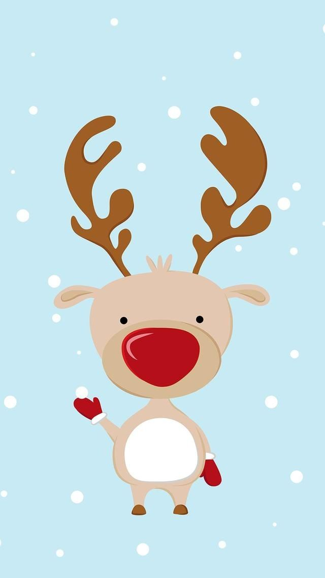 Rudolph wallpaper/lock screen/background Christmas