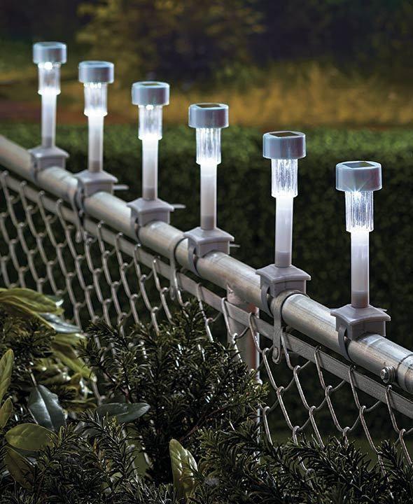 Solar Rail Lights Set of 6 Solar Deck or Fence Lighting ...