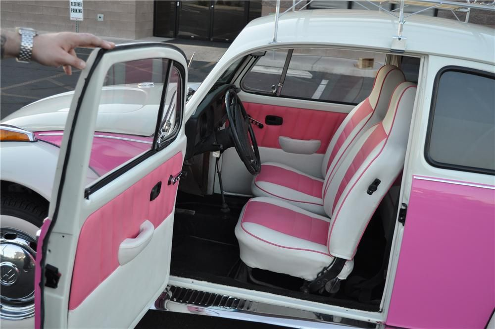 Pink And White Car Interior Barrett Jackson Lot 636
