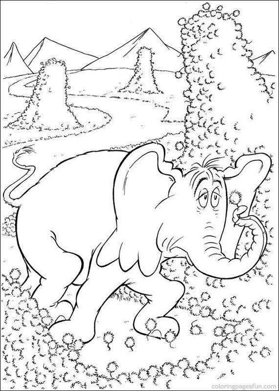 Dr. Seuss Printables | Dr. Seuss Horton Coloring Pages 18 - Free ...
