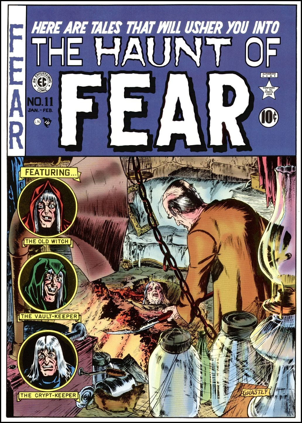 The Golden Age The Haunt of Fear 195054 cover art by