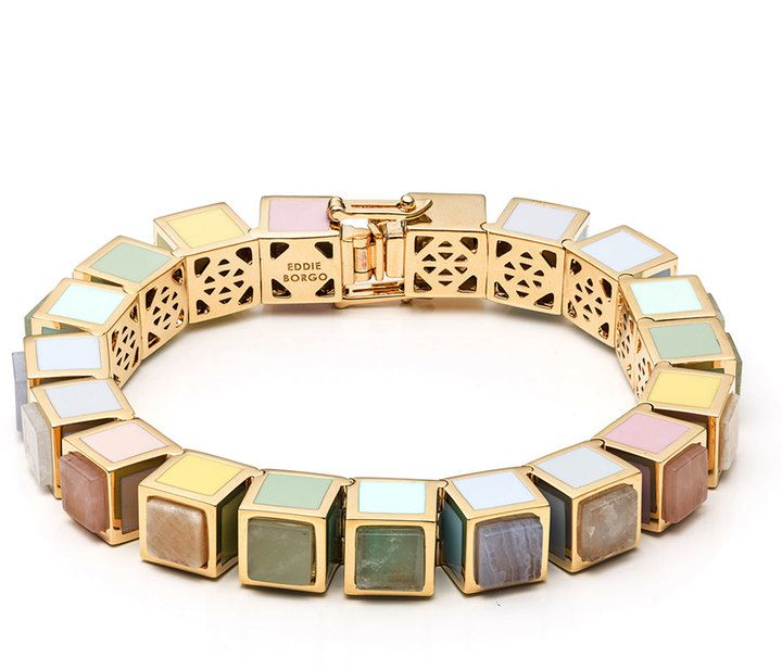 Eddie Borgo MultiStone Cube Bracelet Womens Fashion Designs