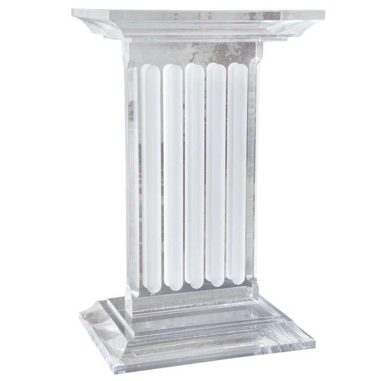 Gorgeous Lucite Pedestal / Table Base | 1stdibs.com