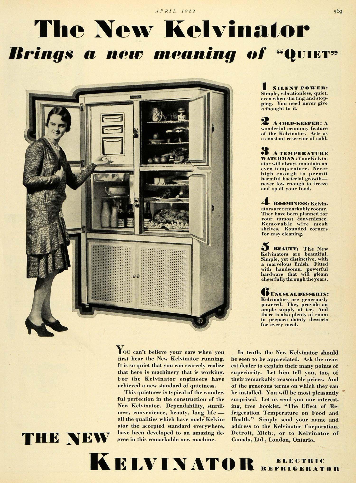 vintage detroit ads 1929 Ad Kelvinator Electric