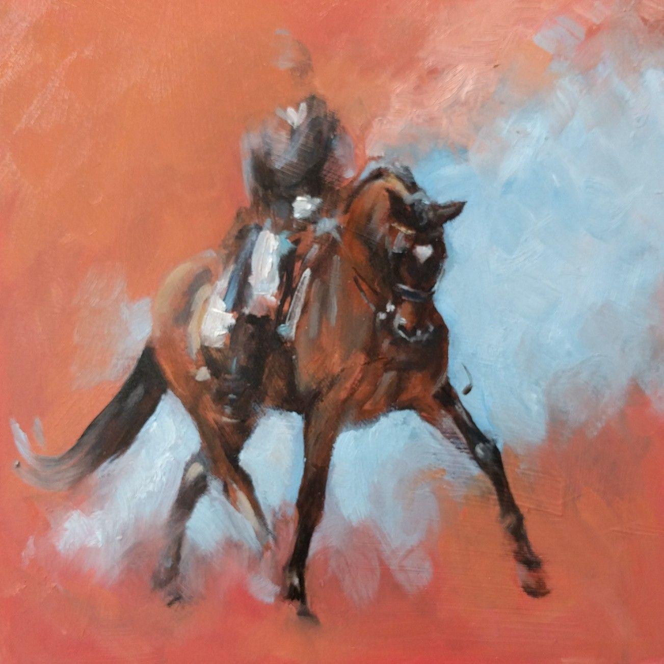 Oil sketch on panel 230117 Zazou Oo seven x Ferro x Belisar/Cath Driessen