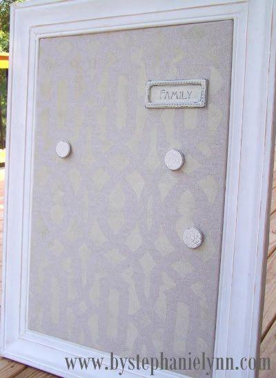 Framed Ikea magnetic Spontan board make over. | Home & Bedroom Decor ...