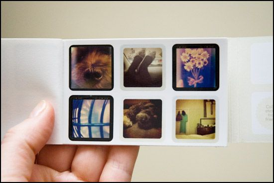 Instagoodies will turn your Instagram photos into a little book of stickers.  Cute!
