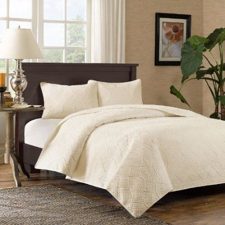 Madison Park Corrine 3 Piece Coverlet Set   Ivory   King/Cal King