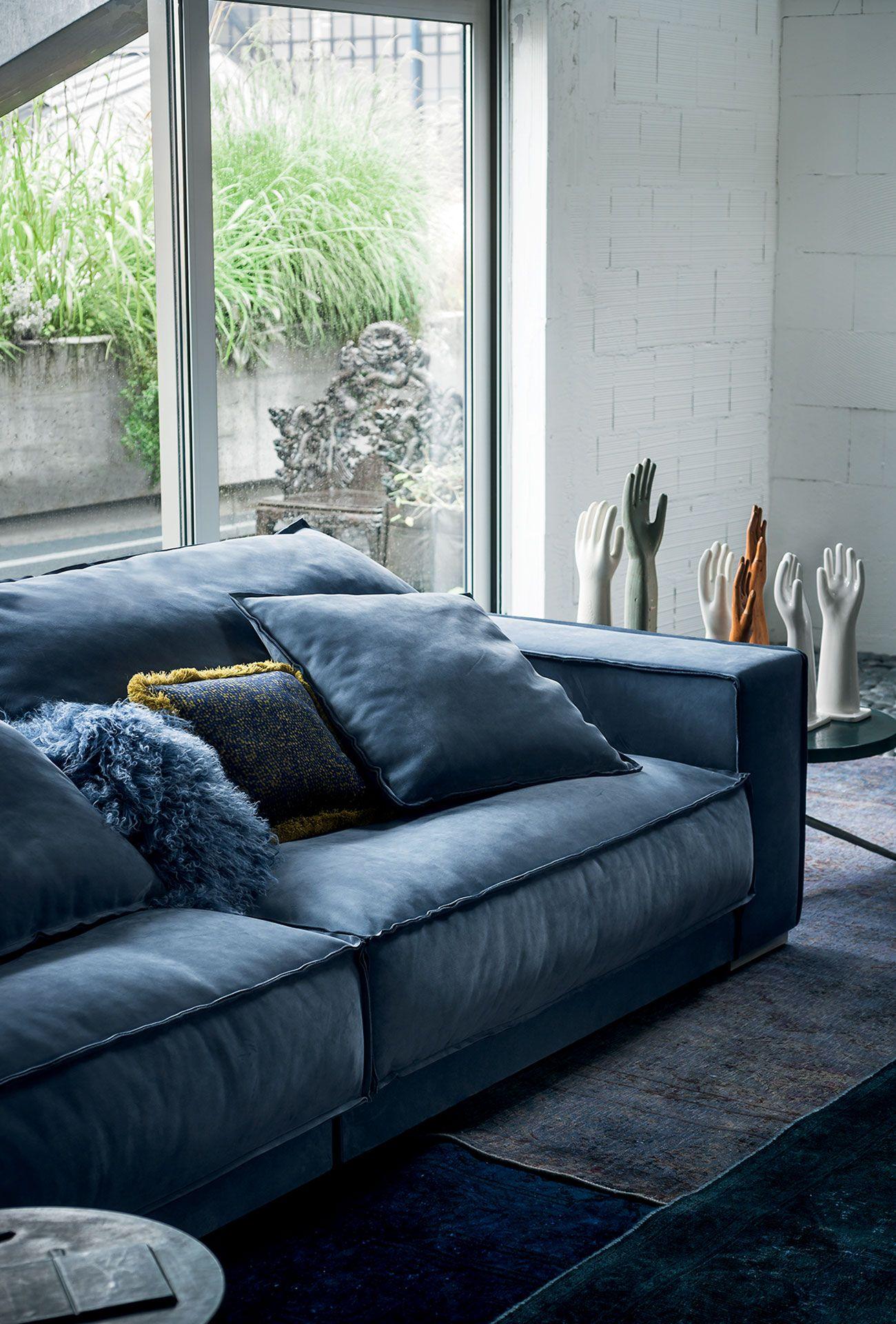 Leather Sofa Budapest Soft Baxter Soft Leather Sofa Luxury Furniture Sofa Blue Leather Sofa