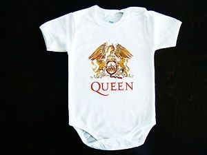 018b290c6 Queen Band Logo Baby Bodysuit Onesie ONE Piece Clothing Rock Hard Funk |  eBay